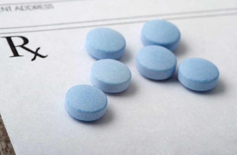 photo of blue tablets