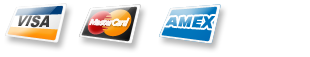 logos of the: visa, mastercard and amex