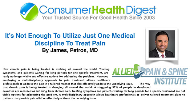 It's Not Enough To Utilize Just One Medical Discipline To Treat Pain
